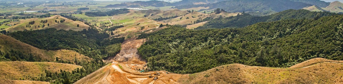 huntly section earthworks on taupiri pass banner2