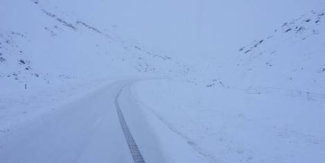 Porters Pass, SH73, earlier today