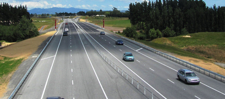The Ngaruawahia section of the Waikato Expressway opened in December 2013..