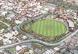 Option A � bridge closer to the northern side of the Basin Reserve.