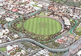 Option B � bridge farther away from the northern side of the Basin Reserve.