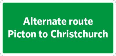 Alternate route - Picton to Christchurch
