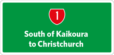 South of Kaikoura to Christchurch