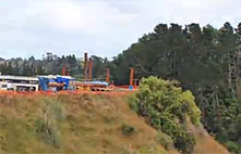 Karapiro Gully, Cambridge bridge construction camera.
