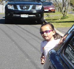 Children may be hard to spot behind vehicles and may behave unexpectedly