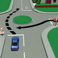 Picture of a single-laned roundabout