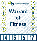 Picture of a warrant of fitness label